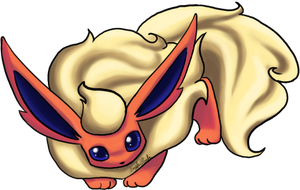 Commission - Flareon by CheezieSpaz