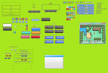 Pokemon UI Creation Kit from 2009 by Neo-DragonCP