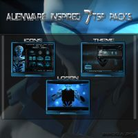 Alienware inspired 7tsp pack by bbosa
