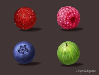 Material studies (berries_1) by TatyanaChugunova