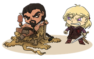 Drogo/Viserys Commission by Thrumugnyr