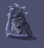 Guard Rick (Palette Practice) by macadoodledoo