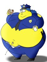 Officer Marge on patrol by Robot001