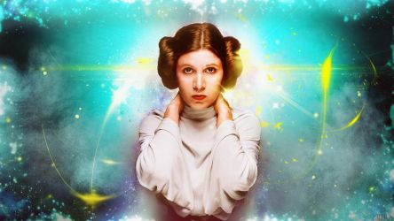 Carrie Fisher - WALLPAPER by JV-Andrew