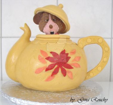 Mouse in a Teapot Cake by ginas-cakes