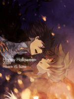 Hibarin VS. Tsuna by Poppycage