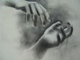 Charcoal Hands by r-pai