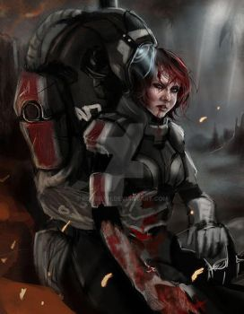 WIP FemShep and Legion by Rossilyn