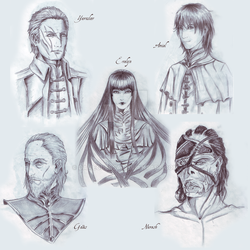 Broken Dream: some characters by DameOdessa