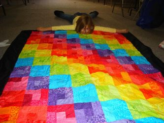 Rainbow Quilt by mamacateyes