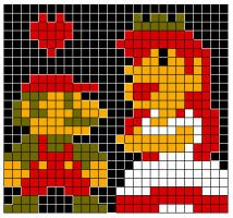 8-Bit Mario Blanket pattern by No-Dogs-Allowed