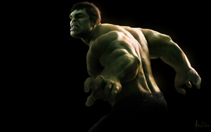 The Hulk - painting by Lasse17
