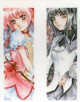 friends forever - Madoka and Homura by lilie-morhiril