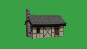 house medieval (Green Screen) by SuperTheo32