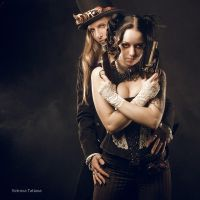 Steampunk Bonnie and Clyde by Vetrova