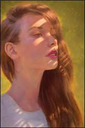 Dope Lighting Portrait Painting 6 Day #363 by AngelGanev