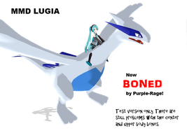 MMD: Lugia BONED DL by Purple-Rage