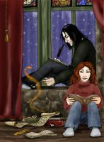 in the library by rawenna