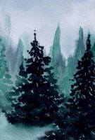 Pine trees  (III) by lifeislikeajoke