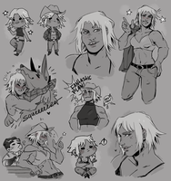 [ $ ] Sketch page Commission for Silent-Koi 2/2 by Reiki-kun