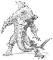 Human-Shark Hybrid (Kerry Gammill) by Hyb1rd-1982