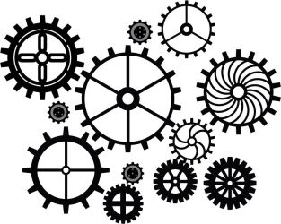 Gears vector by DEADLY-INK
