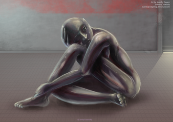 SCP Art: SCP-029 - Daughter of Shadows by GamingHedgehog