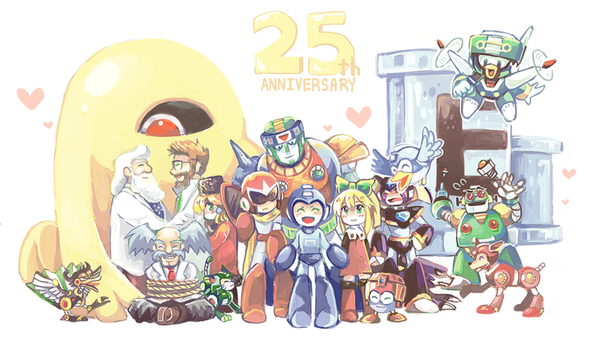 Happy 25th Birthday Rockman by whitmoon