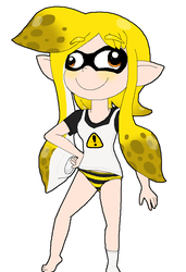 Hanna - The Derpy Yellow Panty Squid by Rotommowtom