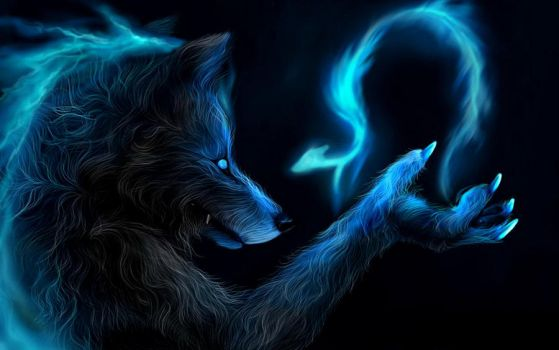 wolf shaman magic by Donovanwolf321