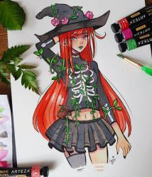 Floral Witch by larienne