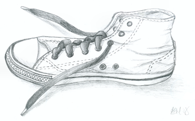Converse Sketch by Kezzi-Rose