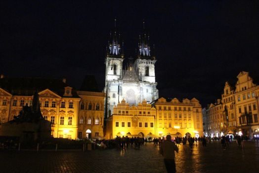 Prague square by TheMalteseBandit