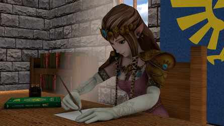Zelda doing her royal duties by mg76Animations