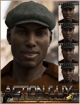 Action Guy Mix'n'Match Expressions Darius and G8M by emmaalvarez