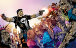 Punisher Walking Dead by CThompsonArt