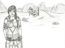 Borderlands (Pen and Pencil) by niner9