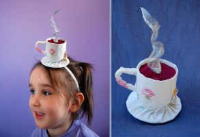 Children Size Tiny Top Hat: The Teacup -Scented- by TinyTopHats