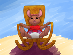Amy in a rocking chair by Alvro
