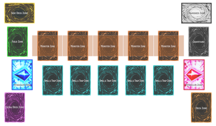Yu-Gi-Oh! Playmat Template (No Background) by CLANNADAT