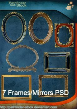 7 Frames and Mirrors PSD Pack by Pathfinder-Stock
