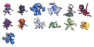 Old Pokemon Splicing Sprites
