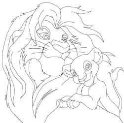 the lion king line art by bunyip-boy