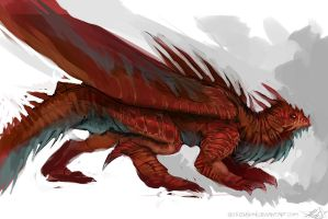 Speedpaint - Red Dragon by DefiledVisions