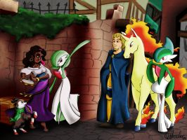 Esmeralda and Phoebus friends by VibaFleischer