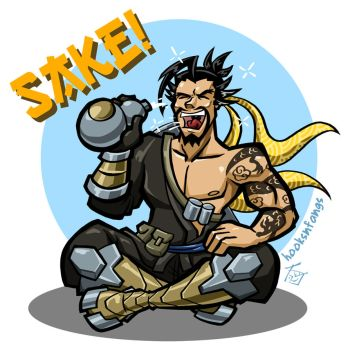Sake for Hanzo by hooksnfangs
