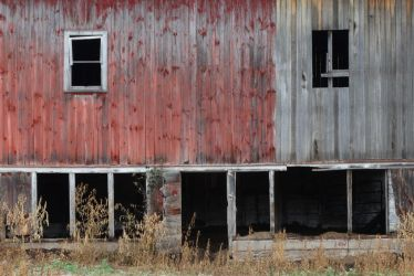 Section of a barn by Amherst, WI 8/8/2015 5:06PM by Crigger