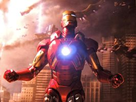 Iron Man - Sky Fall by Riebeck