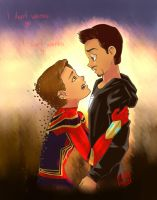 Peter And Tony | Infinity War by maygc17