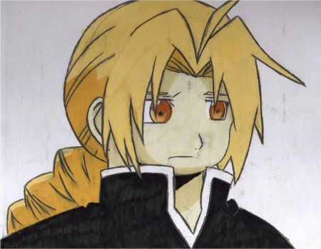 Ed Elric first draw :3 by XbeccaXvampireX